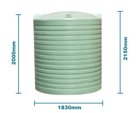 BP5000L Water Tank Green
